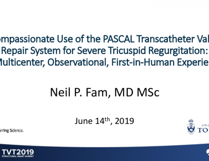 Compassionate Use of the PASCAL Transcatheter Valve Repair System for Severe Tricuspid Regurgitation: A Multicenter, Observational, First-in-Human Experience