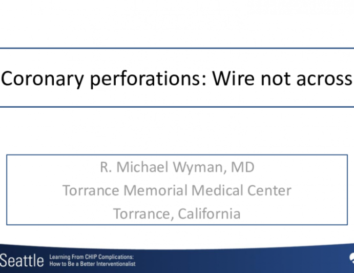 Coronary perforations: Wire not across