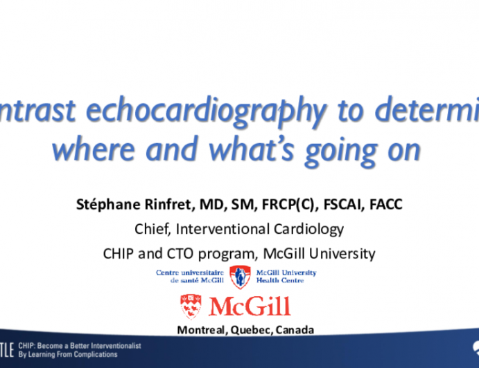 Contrast echocardiography to determine where and what's going on