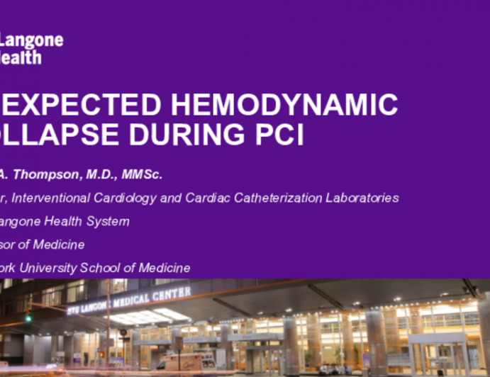 Unexpected Hemodynamic Collapse during PCI