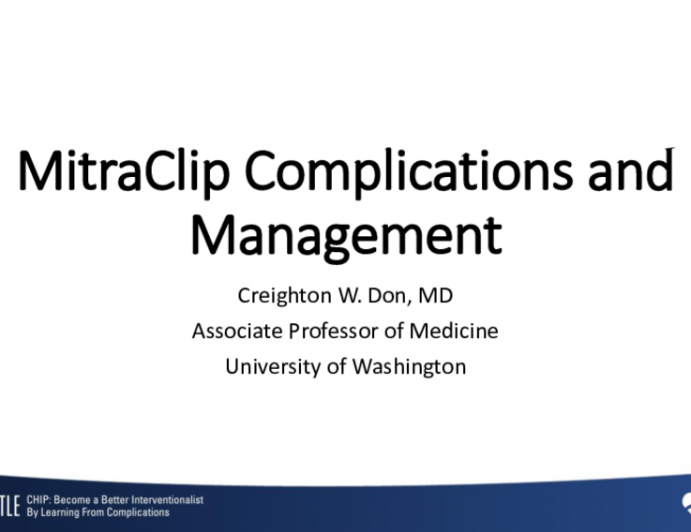 MitraClip Complications and Management