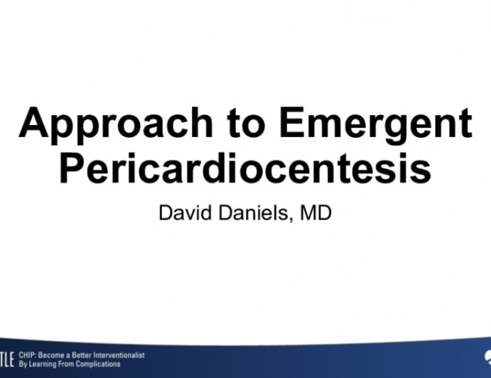 Approach to Emergent Pericardiocentesis