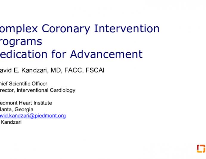 Complex Coronary Intervention Programs Dedication for Advancement