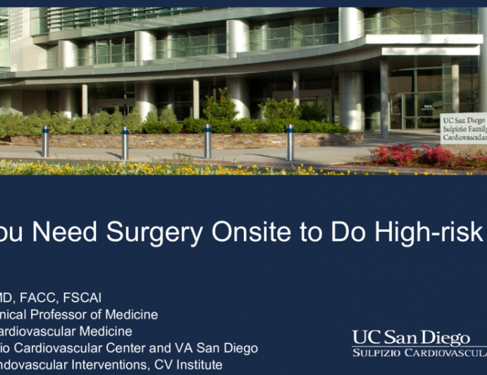 Do You Need Surgery Onsite to Do High-risk PCI?