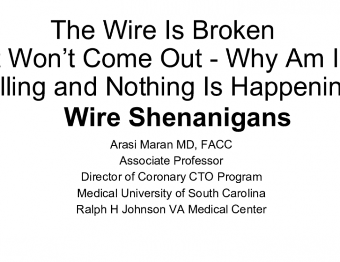 The Wire Is Broken It Won't Come Out - Why Am I Pulling and Nothing Is Happening