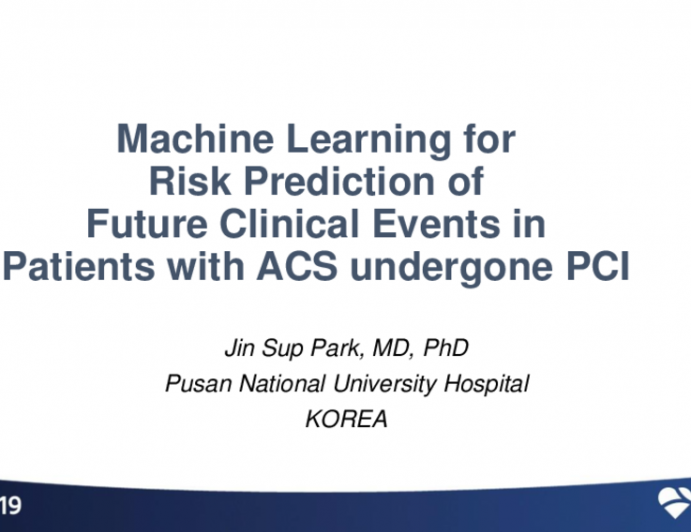 Machine Learning for Risk Prediction of Future Clinical Events in Patients With Acute Coronary Syndrome Undergoing Percutaneous Coronary Intervention