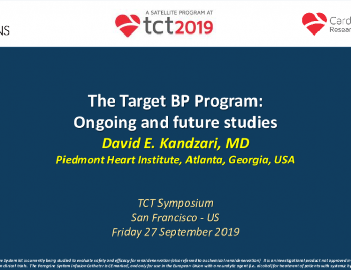 The Target BP Program: Ongoing and Future Studies