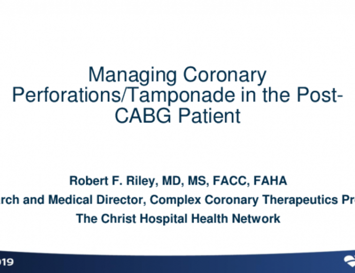 Post-CABG Localized Tamponade: Prevention, Identification, and Management