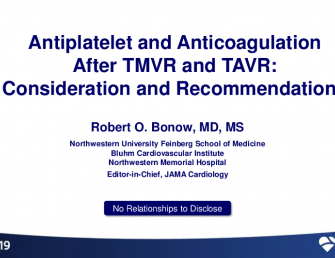 Antiplatelet and Anticoagulation After TMVR and TAVR: Considerations and Recommendations