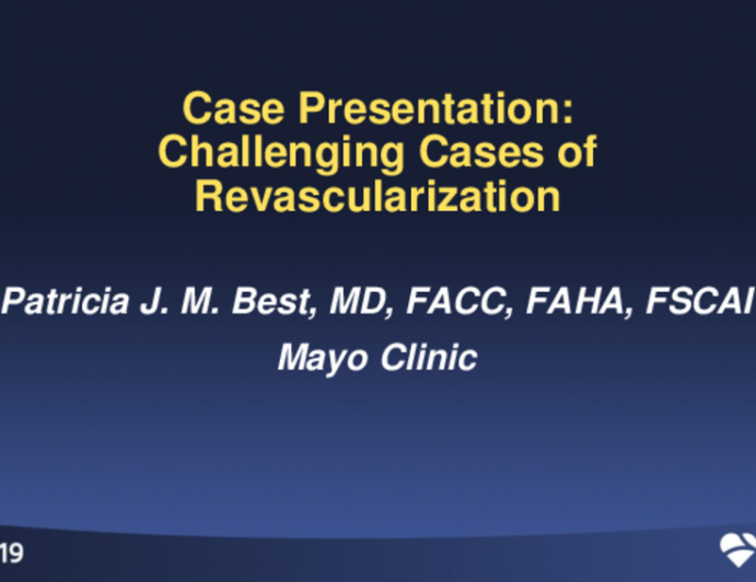Case Presentation: A Challenging SCAD Revascularization