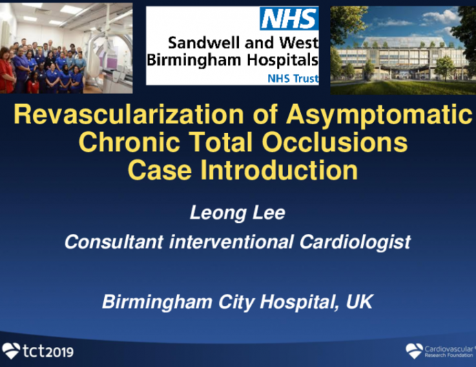 Case Introduction: Revascularization of Asymptomatic Chronic Total Occlusions
