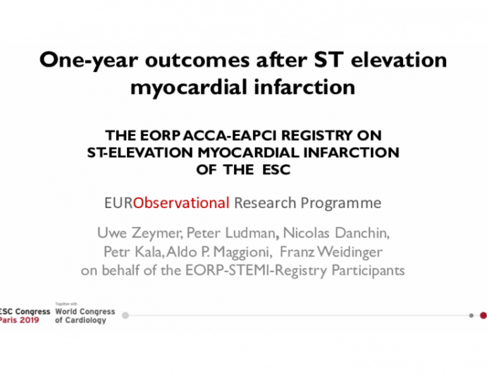 One-year outcomes after ST elevation myocardial infarction