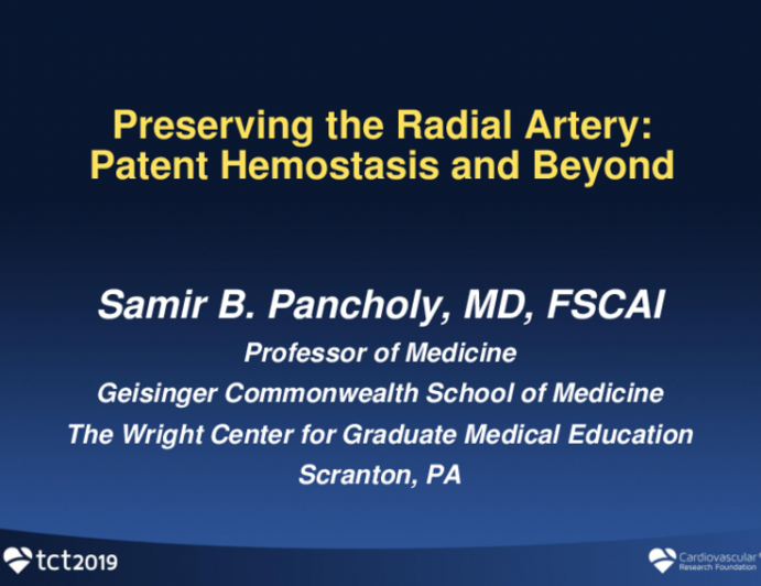 Preserving the Radial Artery: Patent Hemostasis and Beyond