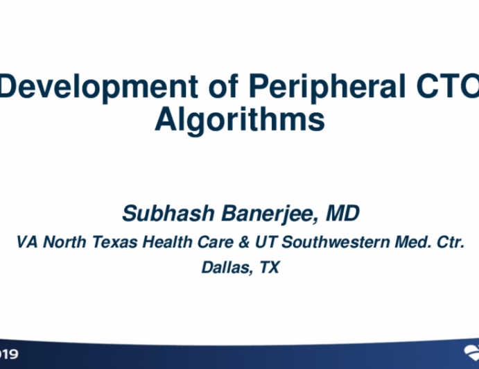 Development of Peripheral CTO Algorithms
