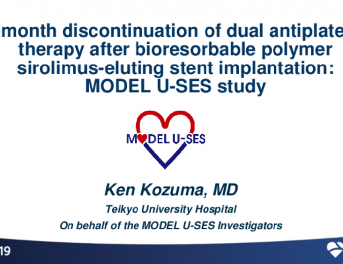 MODEL U-SES: A Single-Arm Study of 3-Month DAPT in Patients Treated With a Bioabsorbable Polymer-Based Sirolimus-Eluting Stent