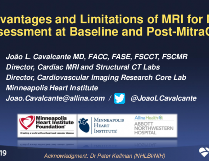 Advantages and Limitations of MRI for MR Assessment at Baseline and Post-MitraClip