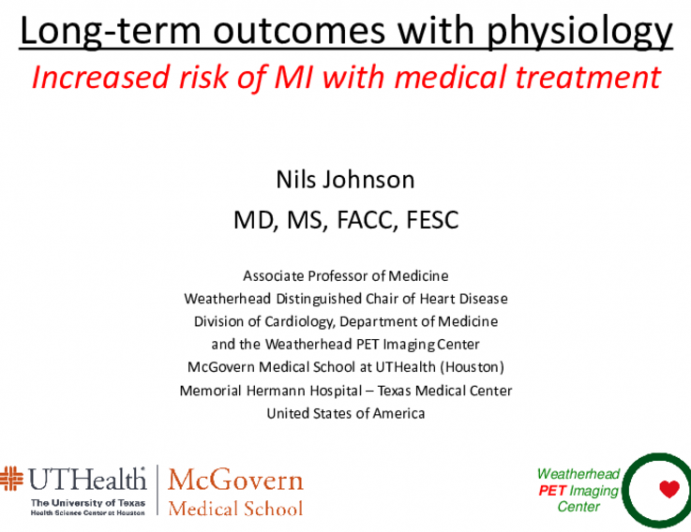 Long-Term Outcomes With Physiology Guidance: Increased Risk for MI Among Patients Treated Medically?