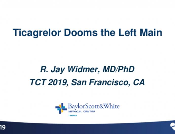Case Introduction: STEMI — Ticagrelor Dooms the Left Main