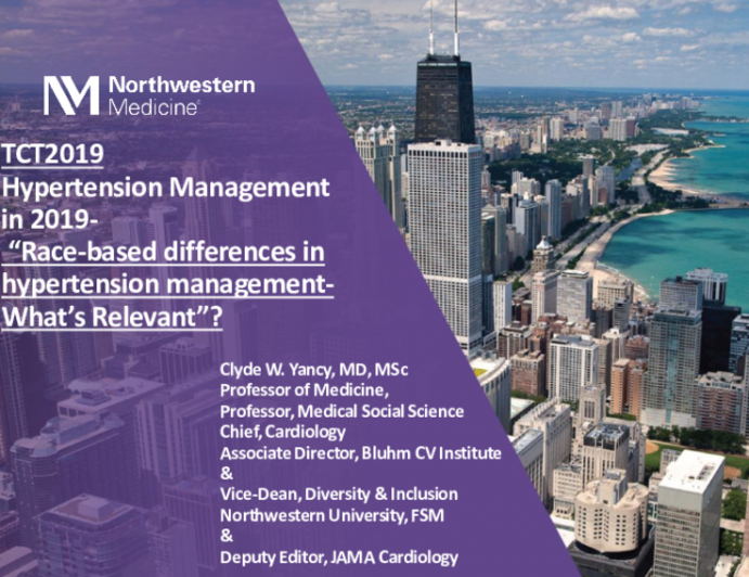 Race-Based Differences in Hypertension Management: What's Relevant?