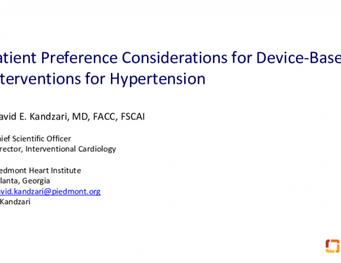 Patient Preferences in Hypertension Treatment