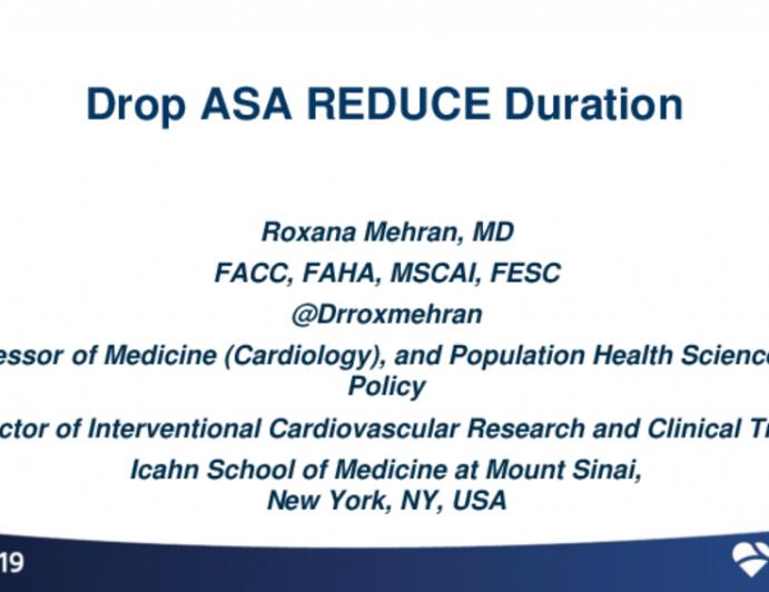 Drop ASA/ REDUCE Duration