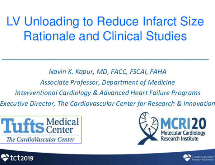 LV Unloading to Reduce Infarct Size: Rationale, Completed Studies, and Ongoing Trials