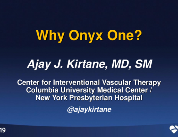 Why Onyx One?