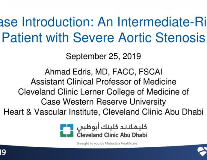 An Intermediate-Risk Patient With Severe Aortic Stenosis - Case Introduction