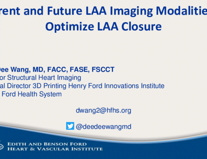 Current and Future LAA Imaging Modalities to Optimize LAA Closure