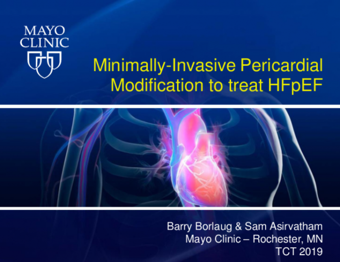 Transcutaneous Pericardictomy for HFpEF