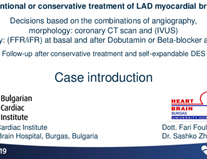 Case Introduction: Interventional or Conservative Treatment of LAD Myocardial Bridging?