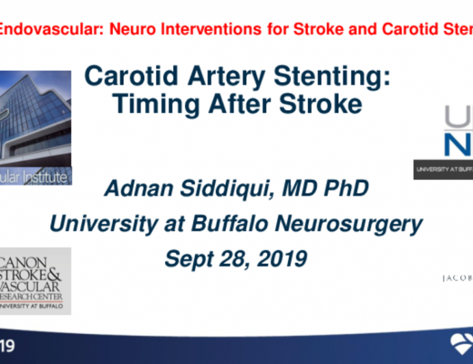 Carotid Artery Stenting: Timing After Stroke
