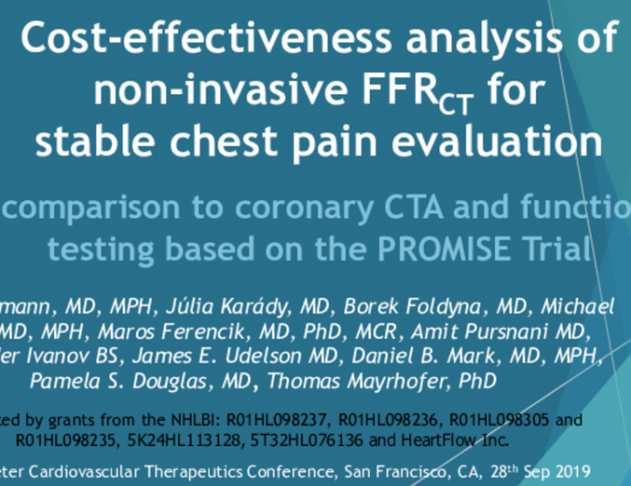 PROMISE: Cost-Effectiveness Analysis of Non-Invasive FFRCT, CTA Alone, and Functional Testing for Stable Chest Pain Evaluation