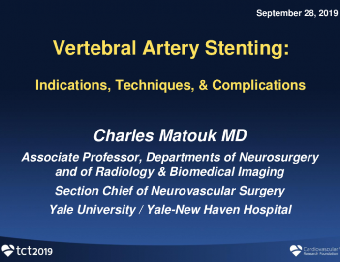 Vertebral Artery Stenting: Indications, Techniques, and Complications