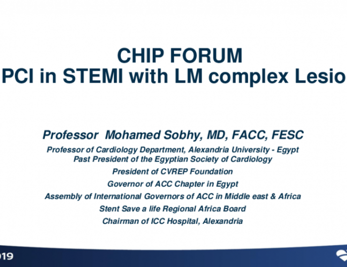 Egypt Presents: CHIP FORUM PCI in STEMI With LM Complex Lesion