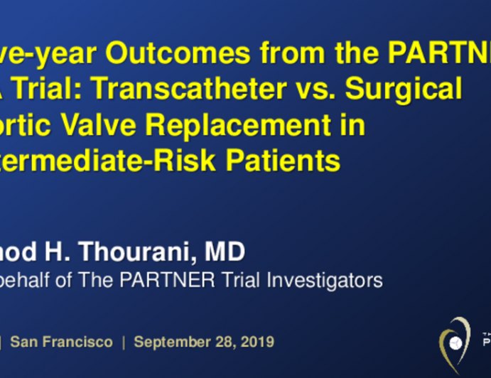 PARTNER 2A: 5-Year Outcomes From a Randomized Trial of Transcatheter vs. Surgical Aortic Valve Replacement in Intermediate-Risk Patients With Severe Aortic Stenosis