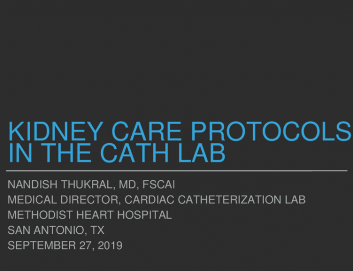 AKI Reduction in the Cath Lab: Protocol Development, Implementation, and Outcomes