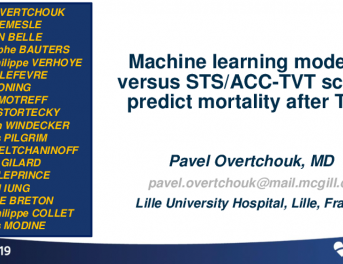 Machine Learning Modelling vs. STSACC TVT Score to Predict Mortality After Transcatheter Aortic Valve Replacement