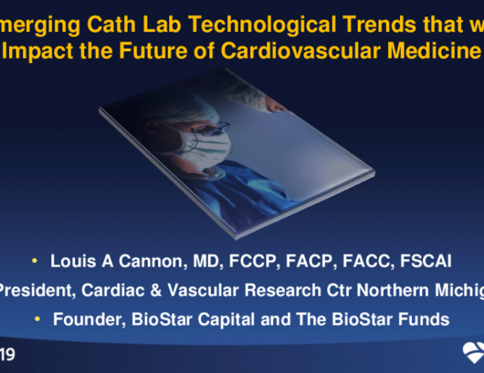 Keynote Lecture: Emerging Cath Lab Technological Trends That Will Impact the Future of Cardiovascular Medicine