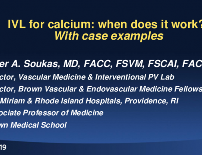 Intravascular Lithotripsy for Calcium: When Does It Work? (With Case Examples)