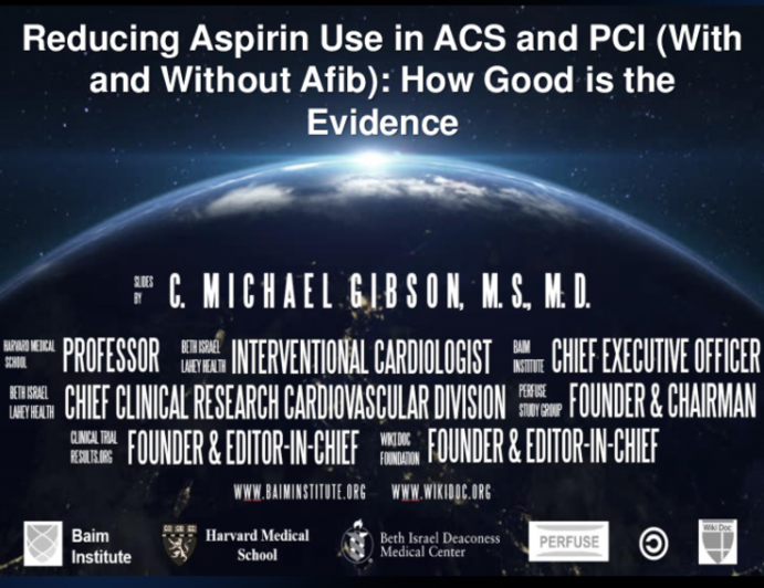 Reducing Aspirin Use in ACS and PCI (With and Without AFib): How Good Is the Evidence?