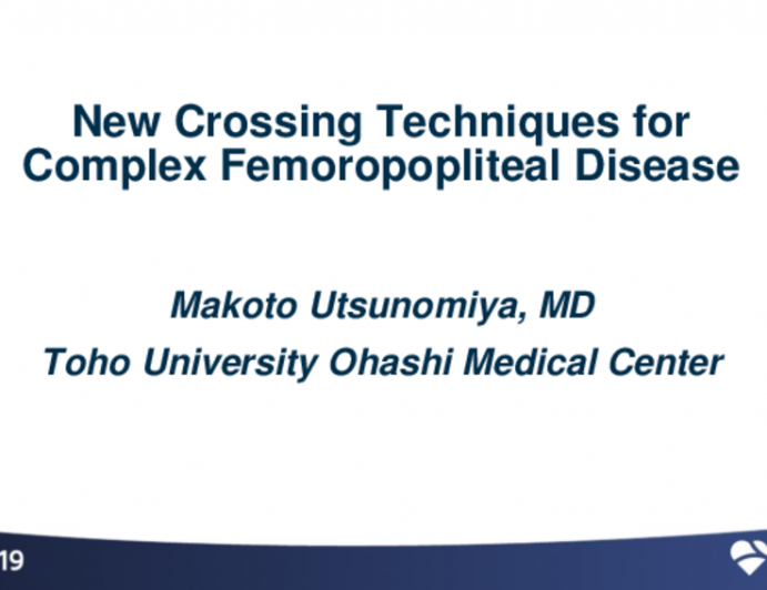 New Crossing Techniques for Complex Femoropopliteal Disease