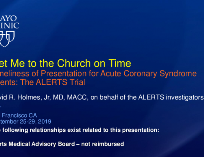 """Featured Technological Trends - Advance Warning of Acute Coronary Syndrome Events (AngelMed): """"Getting to the Church on Time"""""""