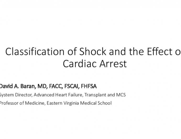 Cardiac Arrest and Cardiogenic Shock