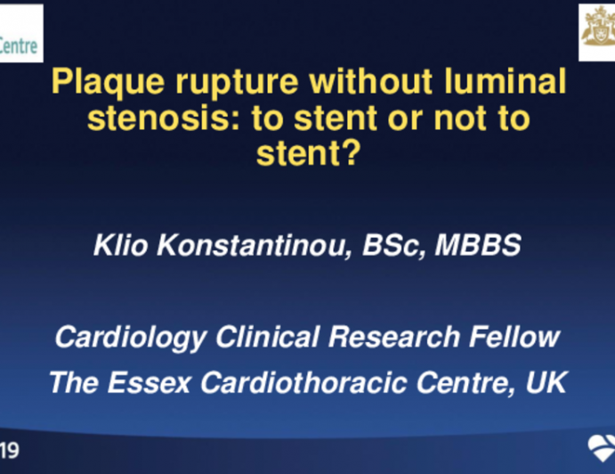 Plaque Rupture Without Luminal Stenosis: To Stent or Not to Stent?