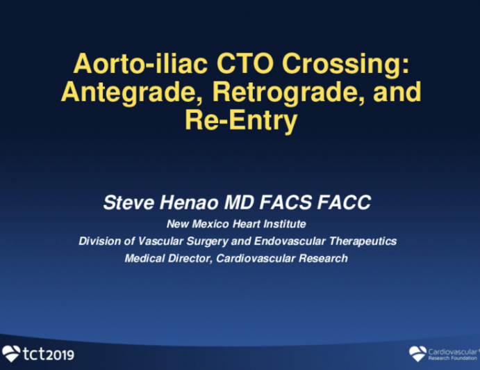 Aorto-Iliac CTO Crossing: Antegrade, Retrograde, and Re-Entry