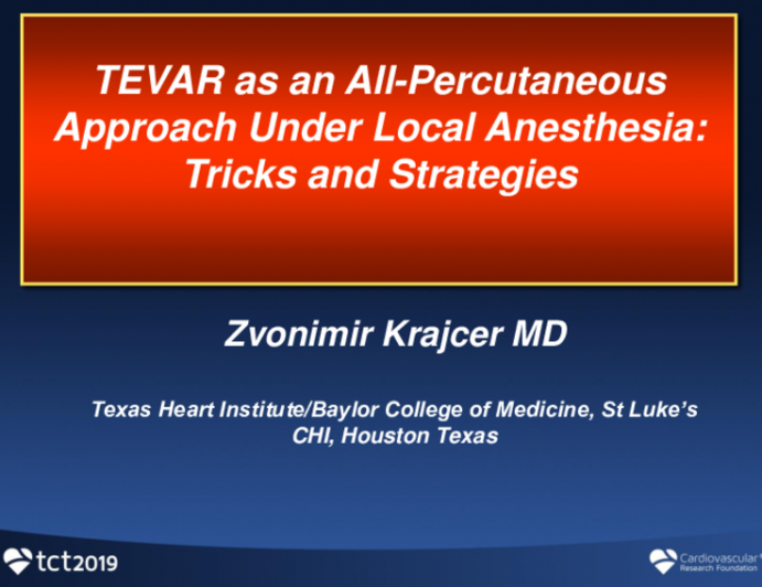 TEVAR as an All-Percutaneous Approach Under Local Anesthesia: Tricks and Strategies