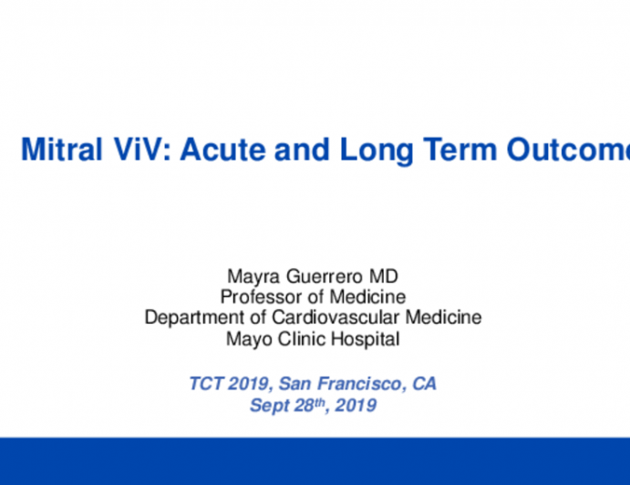 Valve-in-Valve (Mitral): Acute and Long-Term Outcomes