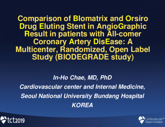 BIODEGRADE: A Large-Scale Randomized Trial of a Thin-Strut Bioabsorbable Polymer-Based DES vs. a Thick-Strut Bioabsorbable Polymer-Based DES in an All-Comers Population With Coronary Artery Disease