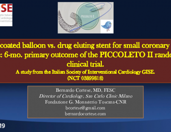PICCOLETO II: 6-Month Clinical and Angiographic Findings From a Randomized Trial of Drug-Coated Balloons vs. Drug-Eluting Stents for Treatment of Small Vessel Coronary Artery Disease